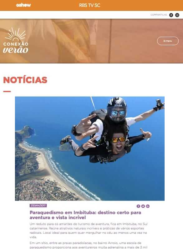 Paraquedismo em Imbituba: destino certo para aventura e vista incrível